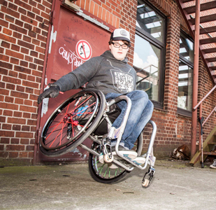 Sportler mit Handicap David